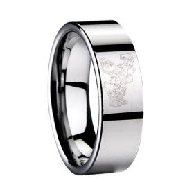 Christmas tungsten rings brand new ring laser Santa design