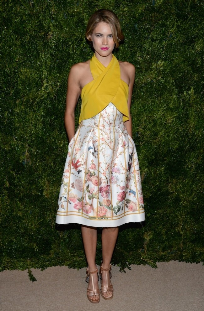 CFDA/Vogue Fashion Fund Awards Red Carpet 2012 PHOTOS |Cody Horn in Thakoon