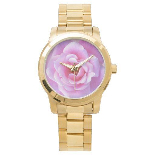Pretty Pink Rose wrist watch