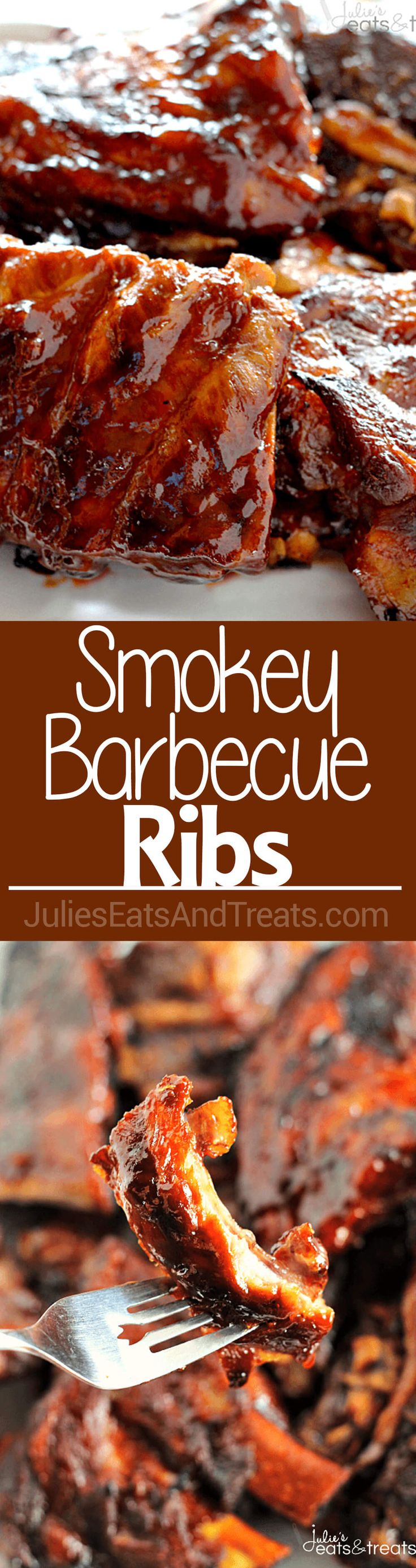 Smokey Barbecue Ribs ~ Smokey, Tender Ribs Loaded in a Homemade Barbecue Sauce…