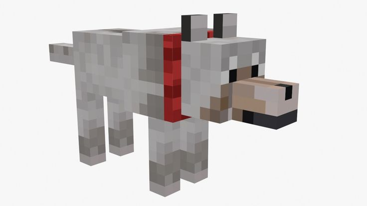 Free Minecraft Wolf 3D Model - 3D Model