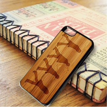 The Beatles Black Silhouette Wood Design iPhone 6 | iPhone 6S Case