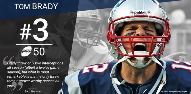 At Number 3: New England Patriots Quarterback Tom Brady #PFF50
