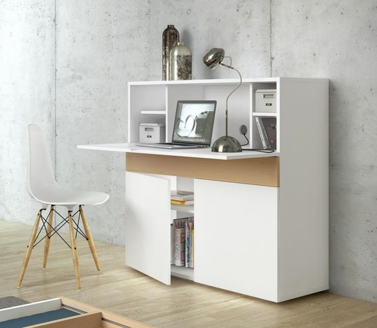 Temahome Focus Office Desk Work Station In Pure White And Oak See More At Https Www