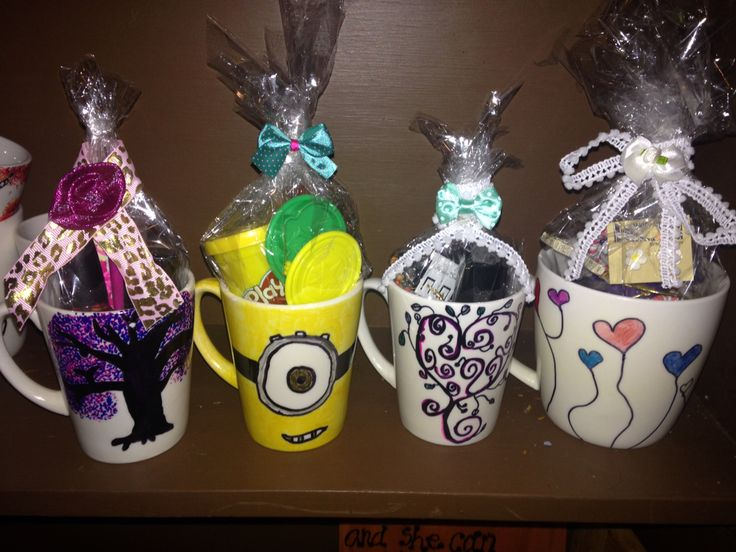 Gifts in cups