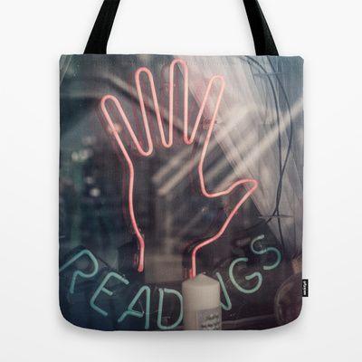 Psychic Readings Tote Bag by Sarah Zanon - $22.00