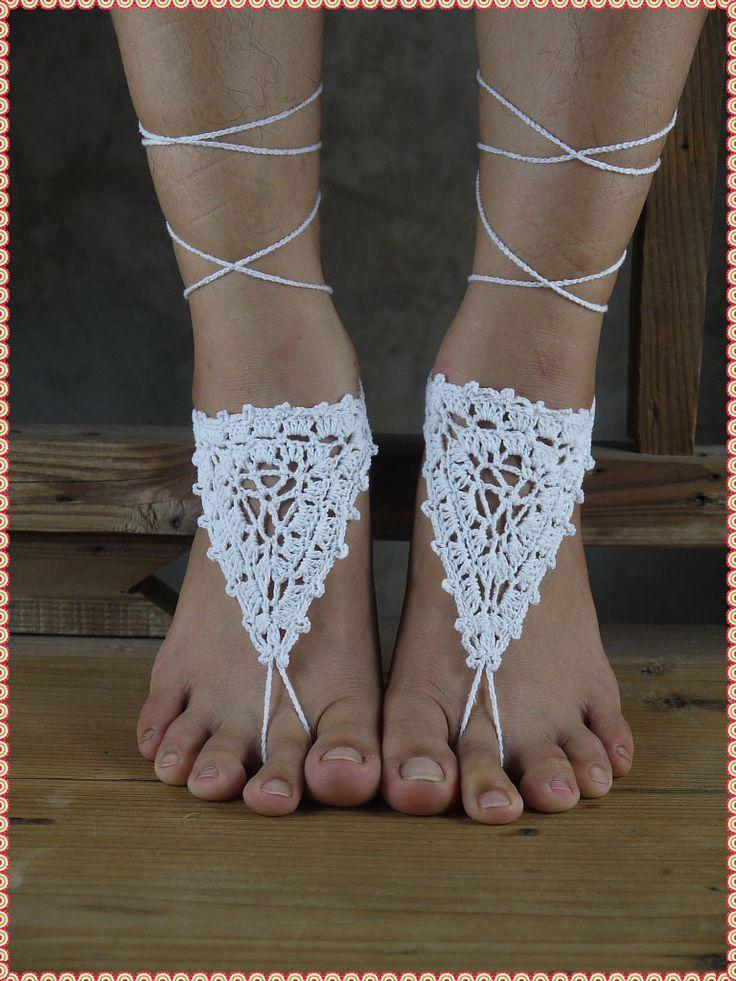 Вязание крючком босиком сандалии, свадебная обувь, пляжная обувь, свадебные аксессуары, ню обувь, футов ювелирные изделия, ножной браслет купить на AliExpress