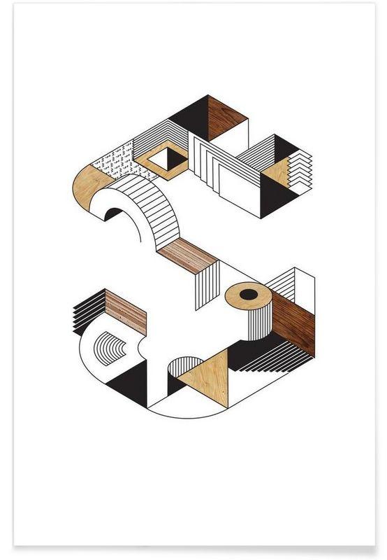 Startling S en Affiche premium par Gwer | JUNIQE