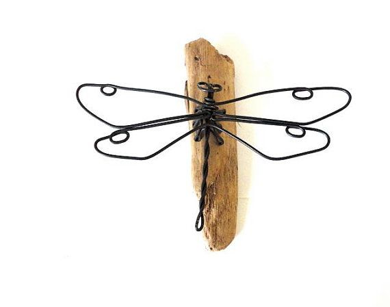 Dragonfly Wire Sculpture, Insect Wire Art, Home and Cabin Decor, 201632853