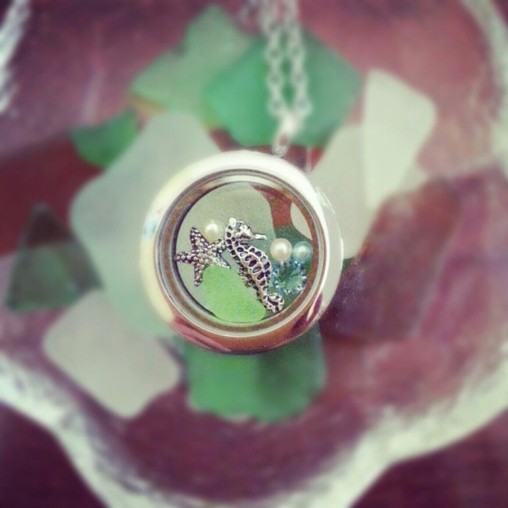 south hill designs locket with beach glass from hawaii, thanks to another artist for pic! www.southhilldesigns.com/charmedmemories
