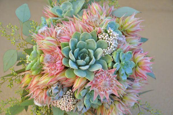 flowerduet.com-blushing-bride-protea-succulent-bridal-bouquet