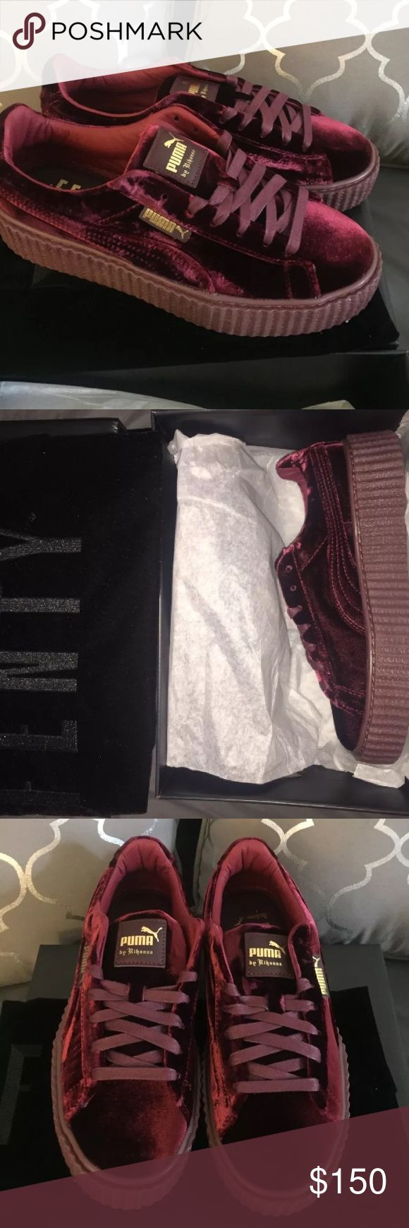 Puma Rihanna Fenty Velvet Creepers Burgundy Purple Deadstock And Brand New w/ Box. Price is highly negotiable if you buy today and Payment is not done thru Po$hmark. Texxt me ONLY when your READY TO PURCHASE 7 7 0 5 8 0 4 8 7 8 Puma Shoes Athletic Shoes