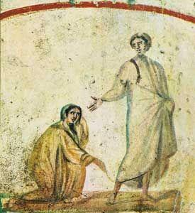 Guarigione emorrissa, Cat. SS. Pietro e MArcellino