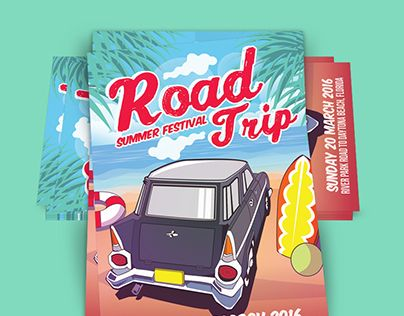 """Check out new work on my @Behance portfolio: """"Road Trip Summer Festival Beach Edition"""" http://be.net/gallery/40183775/Road-Trip-Summer-Festival-Beach-Edition"""