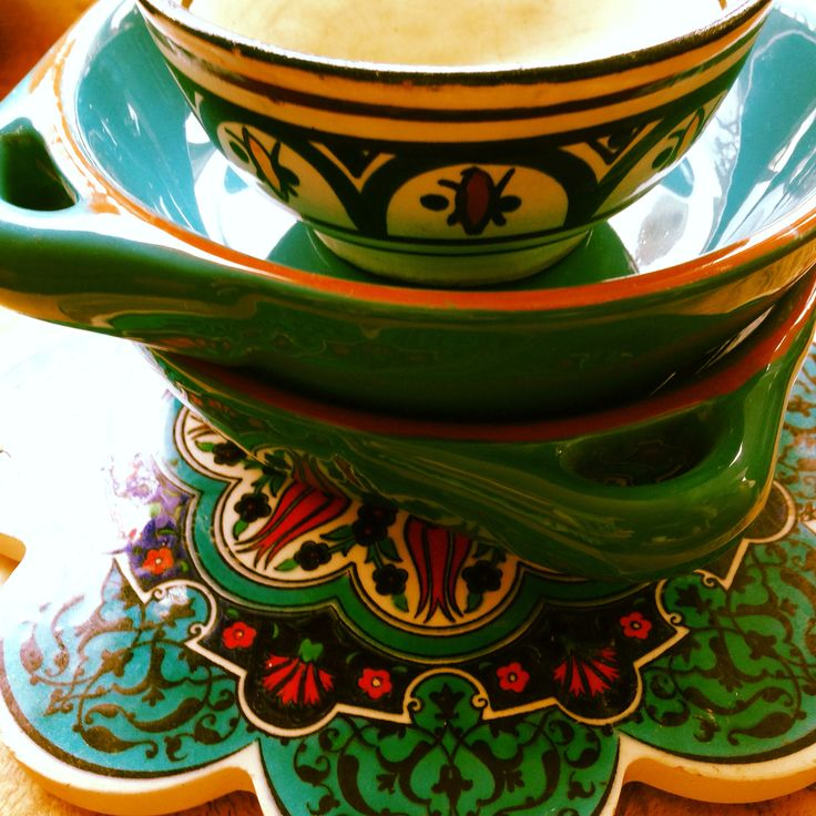 I have an excessive collection of Moroccan, Turkish, Spanish ceramics. Love.