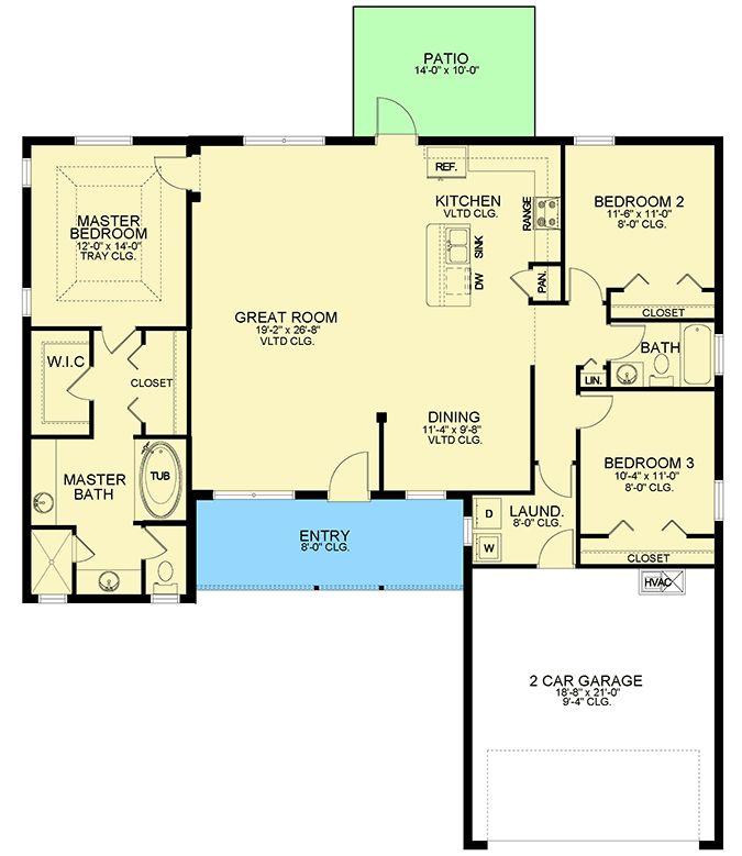 Plan 82245ka Winsome 3 Bed Ranch House Plan With Open
