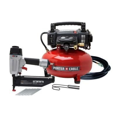 Porter-Cable, 6 gal. 150 psi Air Compressor and Nailer Combo Kit, PCFP72671 at The Home Depot - Tablet