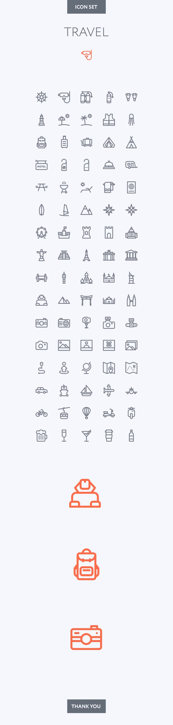 Travel icon set on Behance                                                                                                                                                                                 Plus