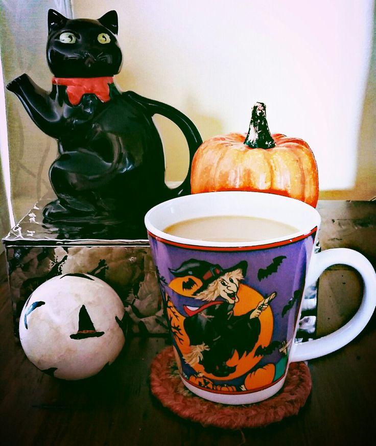 Love coffee from my favourite halloween mug!