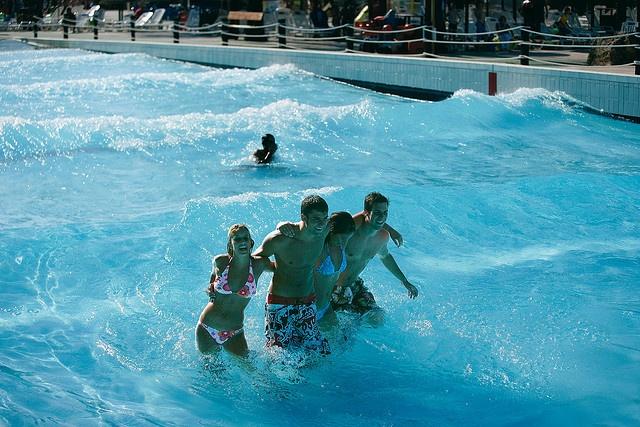 wave pool in Mallorca