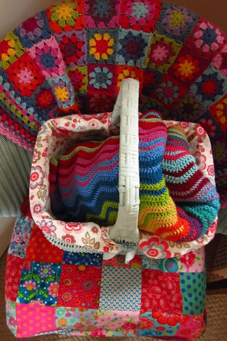 Granny Square Afghan...great colors!