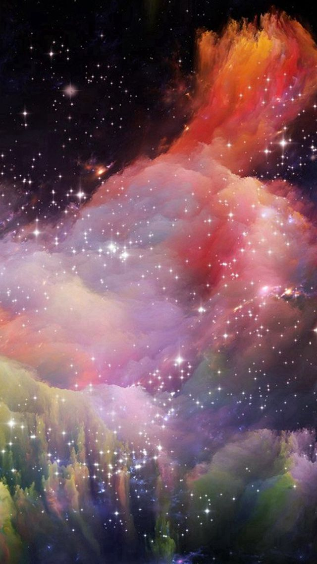 Iphone Wallpapers – Space Rainbow Colorful Star Art Illustration #iPhone #5s #wallpaper