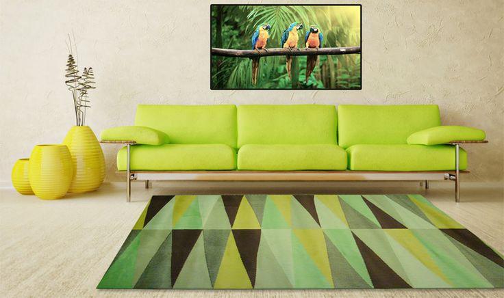 Tappeto disegno grafico verde