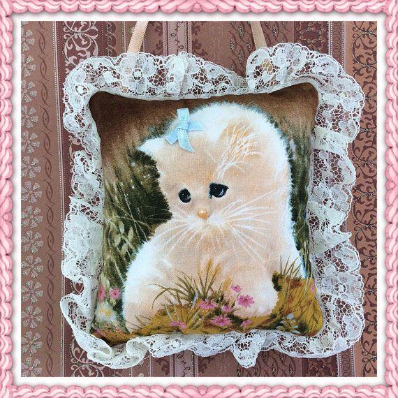Deur Hanger kat / schattige kat hanger / kleine kat kussen / schattig kitten / decoratieve kussen / home accessoire / kleine zachte kussen / katten