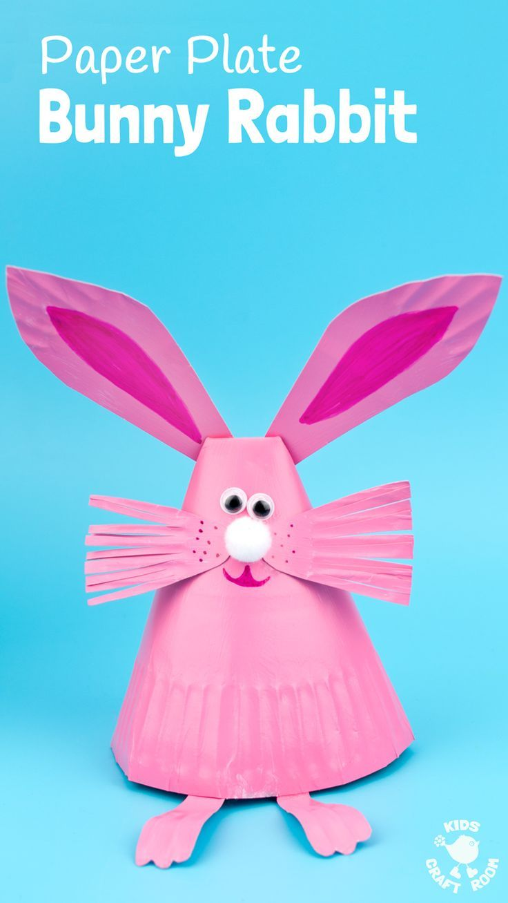 This Paper Plate Rabbit Craft is a super Easter craft or Spring ...