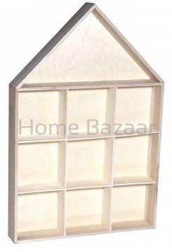 Półka 'domek' - Artykuły dekoracyjne sklep - dekoracje dla domu