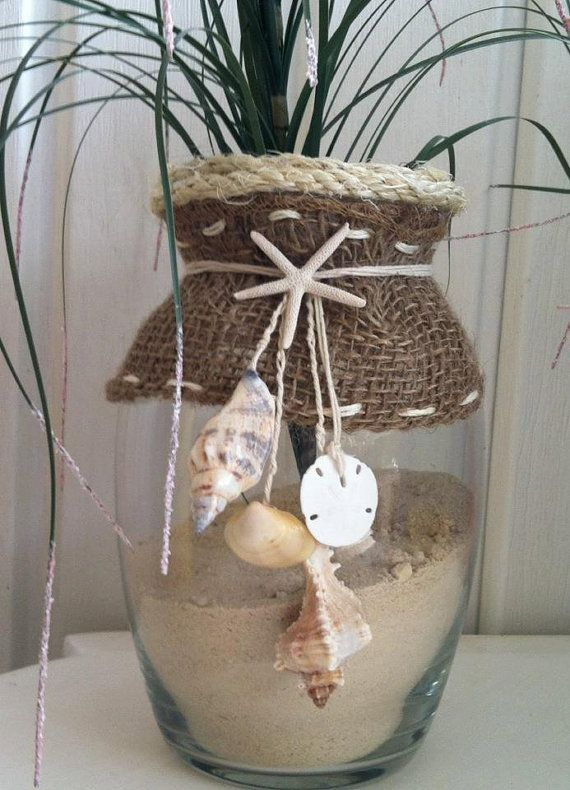 Seashell Beach Themed Vase cjs