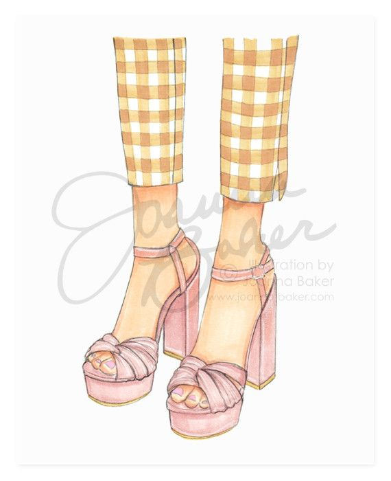 For the Love of Gingham Fashion Art Print