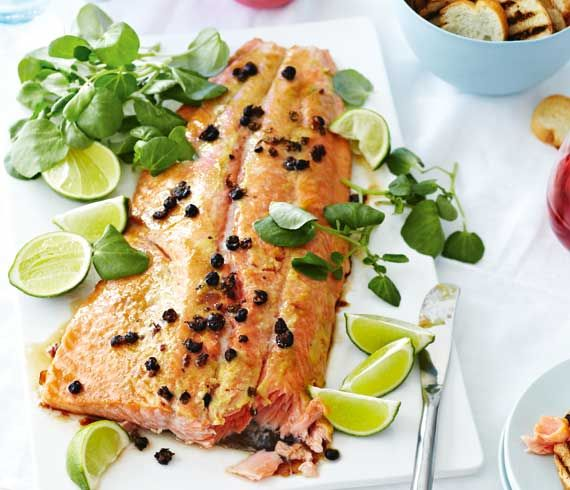 Juniper Berry & Mustard Salmon