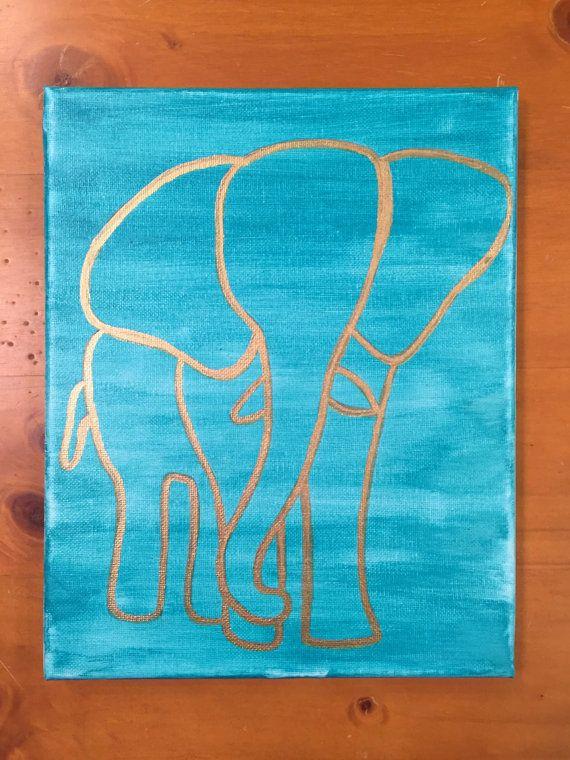 Elephant Canvas by ArtByElyssa on Etsy