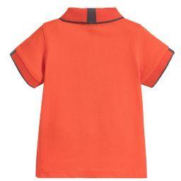 Armani Baby - Boys Orange Piqué Polo Shirt   Childrensalon