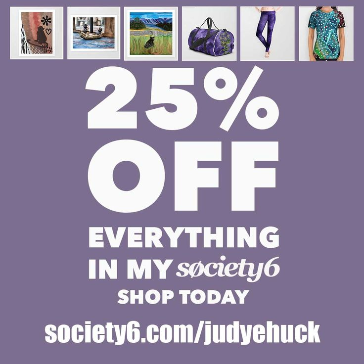 2-day sale for 25% off everything in my Society6 store. Unique items. Ends midnight 1 Jan 2018. http://ow.ly/4Vrq30hvFms #uniquegifts #leggings #yoga #art #homedecor