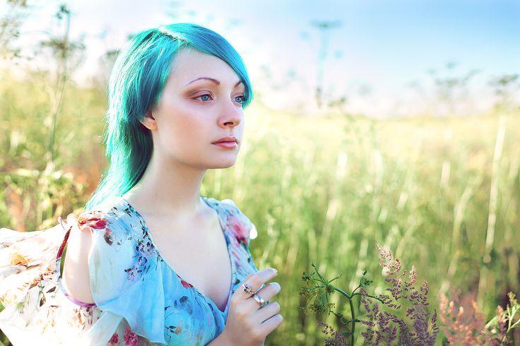 надежда, земная русалка, девушка в поле, романтика