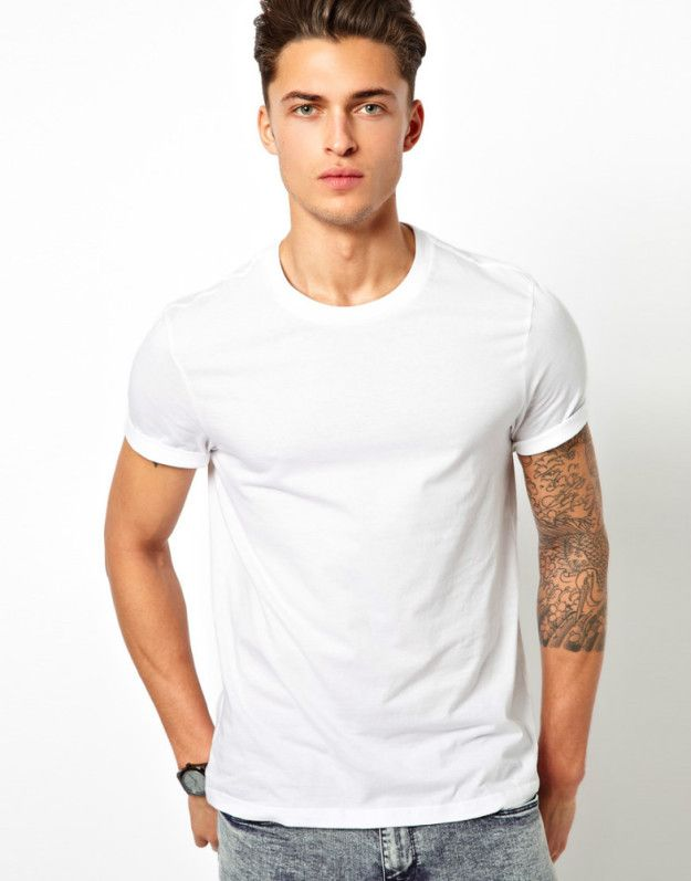 White Fitted V-Neck or Crew-Neck Shirts | 9 Clothing Styles For Men To Always Look Their Best