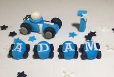 handmade Personalised Racing Car F1 Boys edible cake Decoration topper Birthday 13.99