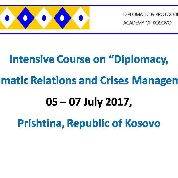 #Open #Invitation Interested to spend few days and learn more about Diplomacy, Diplomatic Correspondence, and Crises Management? Then join our wonderful group of people in Prishtina, Kosovo, #Young #Europeans #Country The contribution fees:  #Kosovo Participants: 35 euro #Non Kosovo Participants 60 euro #Who can come:  All participants or candidates that #NEED #NO #VISA TO #ENTER to the #Republic of #Kosovo are eligible to apply at: Intensive Course of Diplomacy and Crises Management…