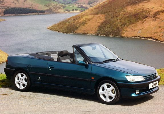 Peugeot 306 Cabriolet UK-spec 1994–97