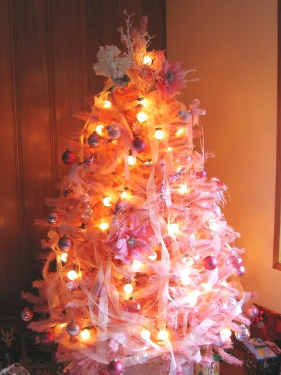 Orange Artificial Christmas Tree