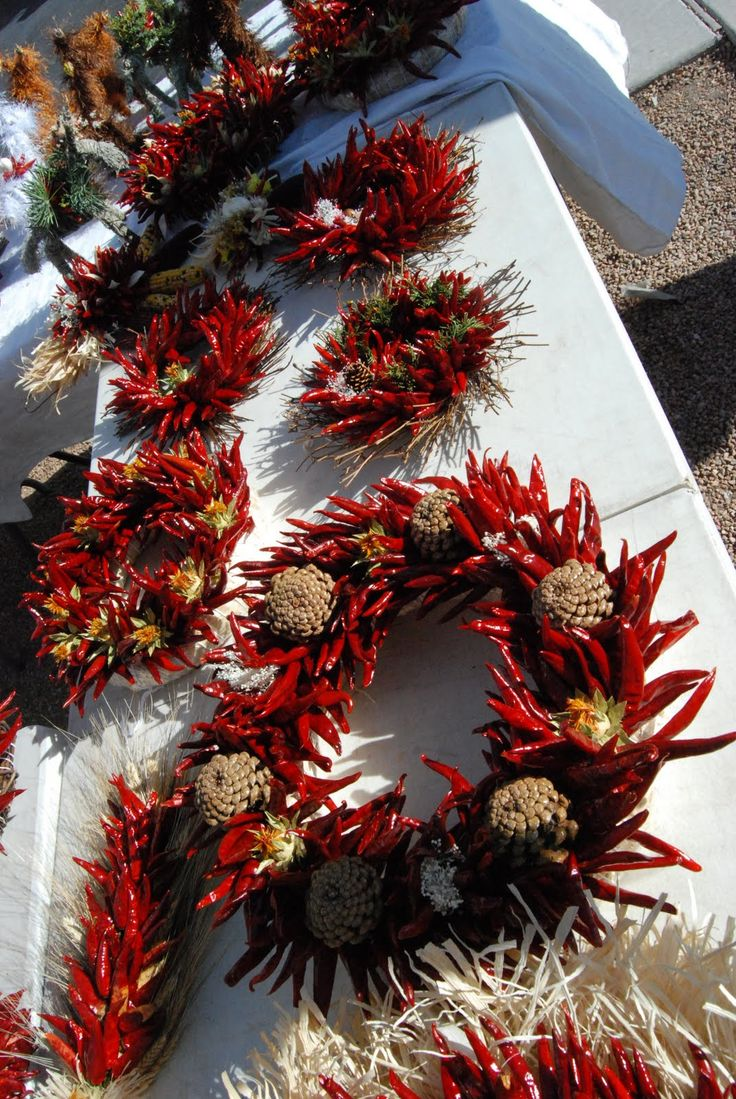 Santa Fe Daily Photo: A Santa Fe Christmas Wreath. This is a beautiful place to be during December.