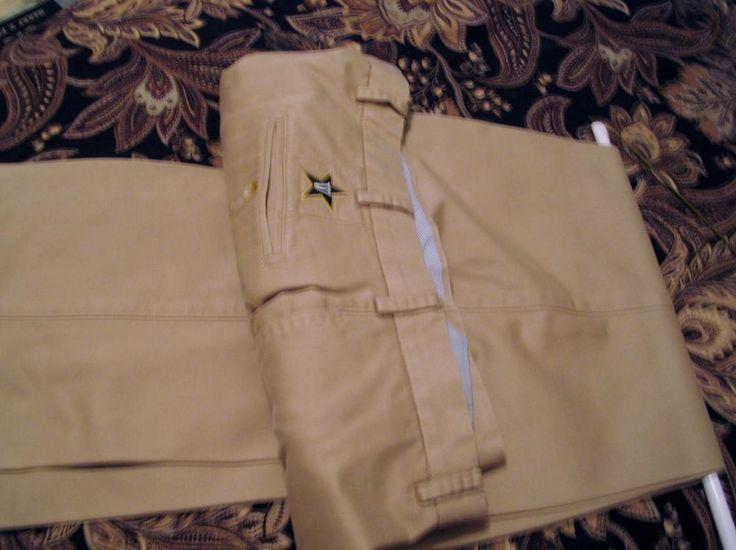 Peter Millar 100% Pima Cotton Tan Chino Khaki Pants 36 x 30 Vanderbilt Logo  #PeterMillar #DressFlatFront