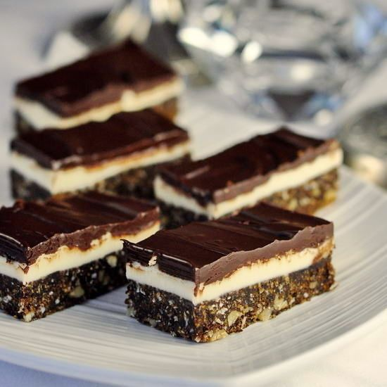 Chocolate Mint Nanaimo Bars - another twist on the classic Canadian treat, the Nanaimo bar. Here the sweet vanilla center gets infused with cool mint flavor.