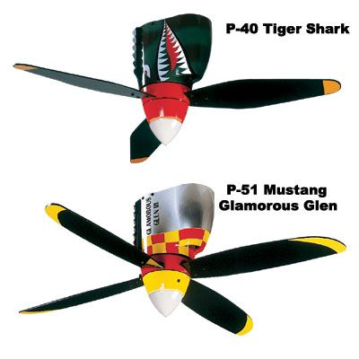 Airplane propeller ceiling fan - so cool! Perfect for a boys room or a game room