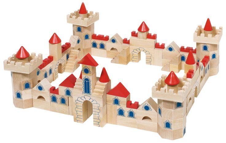 Dřevěné dětské kostky Hrad