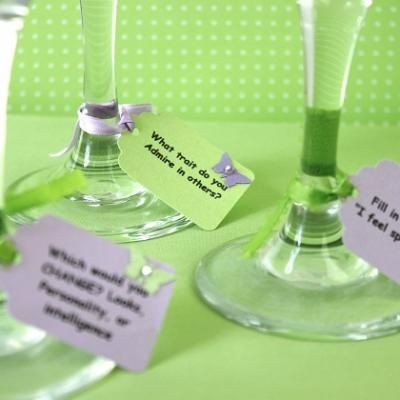 drink tag conversation starters - this would be a good idea for a party where not everyone knows each other