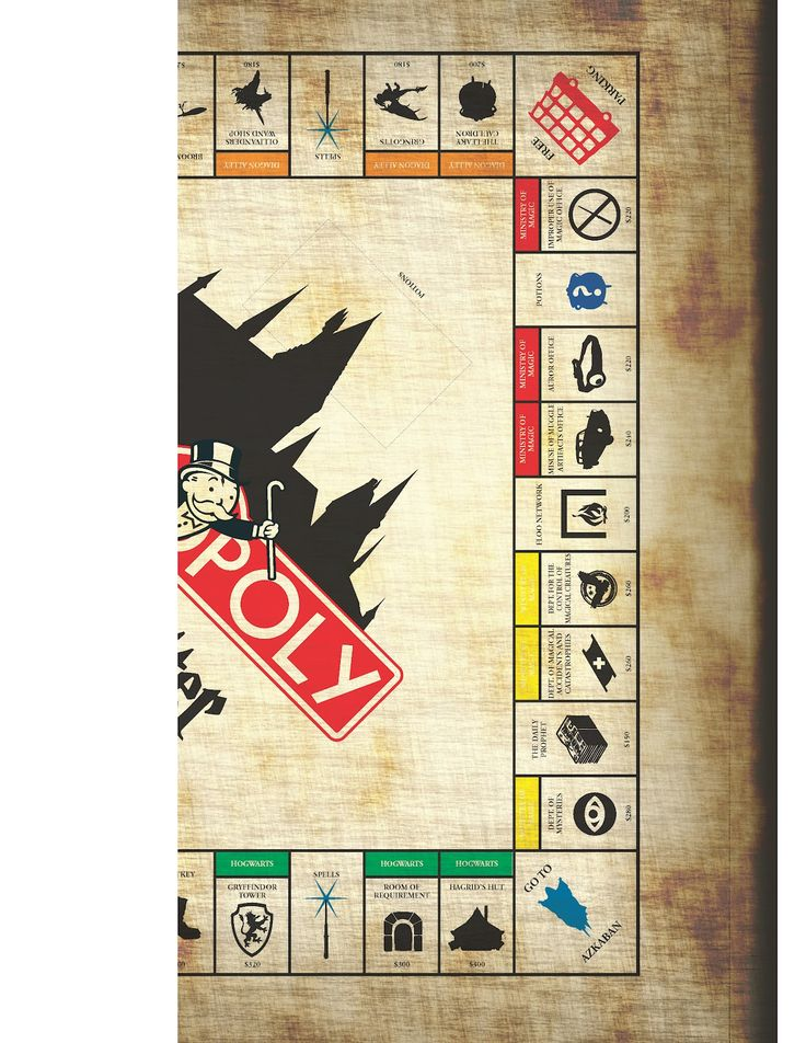 "DIY Feature: ""Harry Potter"" Monopoly - MuggleNet"