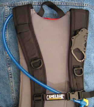 Hide Away Self Defense Knife in Kydex Sheath with SheathSticks to backpack shoulder straps - because you'll never know until it's too late that you need to defend yourself.